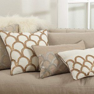 New Posh Collection Arch Design Embroidered Pillow